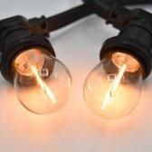 Prikkabel set met LED lampen, 50 meter met 100 fittingen - 1 watt filament lampjes 2700K
