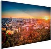FotoCadeau.nl - Zonsondergang in Wenen Glas 120x80 cm - Foto print op Glas (Plexiglas wanddecoratie)