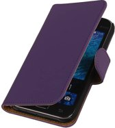 Samsung galaxy j1 2015 J100F Paars   bookstyle / book case/ wallet case Hoes    WN™
