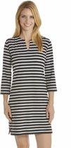 Coolibar UV jurk Dames - Zwart/Wit - Maat L