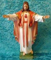 Jezus Heilig Hart van Montmartre - gips beeld 31 cm