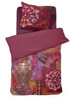Damai Persia - Dekbedovertrek - Satijn - Eenpersoons - 140 x 200/220 cm - Rood