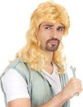 """""""Foute blonde pruik voor mannen  - Verkleedpruik - One size"""""""