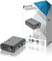 Digital Audio Converter 1x TosLink Female + 1x S/PDIF (RCA) Female - 2x RCA Female Dark Grey