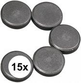 Ronde magneten -  20 x 5 mm - 15 stuks