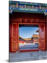 De deuren van de Verboden Stad in China Aluminium 80x120 cm - Foto print op Aluminium (metaal wanddecoratie)
