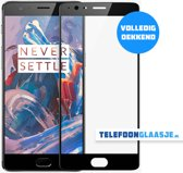 OnePlus 3 Full Cover Glazen screenprotector (ZWART) | Tempered glass | Gehard glas