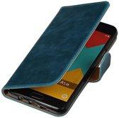 Samsung Galaxy A5 (2016) Hoesje Zakelijke Bookstyle Blauw