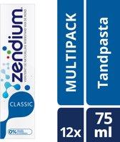 Zendium Classic Tandpasta - 12 x 75 ml - Voordeelverpakking