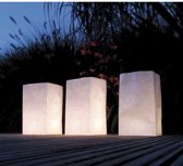 5x Candle Bags set blanco 26 cm