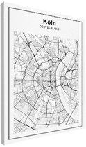 Stadskaart klein - Keulen canvas 30x40 cm - Plattegrond