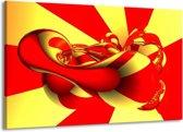 Canvas schilderij Abstract   Geel, Rood   140x90cm 1Luik