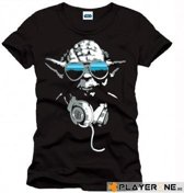 Merchandising STAR WARS - T-Shirt DJ Cool Yoda Men Black (L)