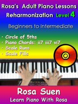 Rosa's Adult Piano Lessons Reharmonization Level 4 Circle of 5ths - ii7 iii7 vi7