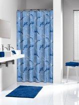 Sealskin douchegordijn Delfino - 180x200 cm - Blauw