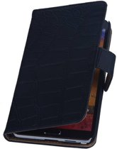 Samsung Galaxy Note 3 Hoesje Krokodil Bookstyle Zwart