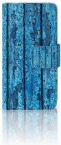 LG L70 Uniek Boekhoesje Wood Blue