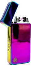Elektrische Plasma aansteker + USB Oplaadbaar - Wind en Storm Bestendig - Vuurwerk aansteker - Double Arc - Gasbrander - Sigaretten Aansteker - BBQ - Regenboog - Axties®