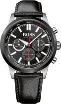 Hugo Boss Black Racing HB1513191 - Horloge - Leer - Zwart - 44 mm