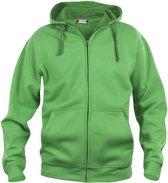 Clique Basic hoody full zip Appelgroen maat M
