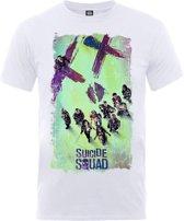 DC Comics - Suicide Squad Movie Poster heren unisex T-shirt wit - XXL
