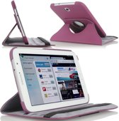 Samsung Galaxy Tab 3 7.0 Lite T110 draaibare case cover hoes Paars