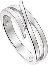 The Jewelry Collection Ring Diamant 0.007ct H Si - Zilver Gerhodineerd