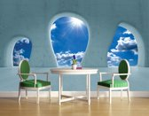Blue Photomural, wallcovering