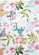 """Notitieboek/agenda """"Summer Flowers"""" – Wit/Groen"""