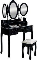 Clp Pauline - Make-up tafel - mat zwart