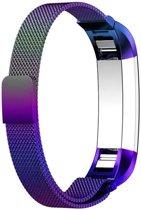 Milanees bandje geschikt voor Fitbit Alta - gemaakt van RVS - Band met magneetsluiting - KELERINO. - Regenboog