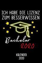 Kalender 2020 Bachelor: Jahreskalender 2020 Bachelor als Geschenk f�r Bachelor Absolventen / DIN A5 - 6x9 Zoll 120 Seiten / Terminkalender zum