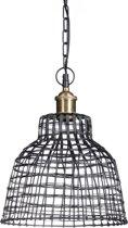 relaxdays hanglamp rooster metaal zwart, plafondlamp industrieel, pendellamp