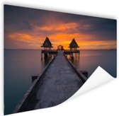 Sunset in Thailand foto afdruk Poster 60x40 cm - Foto print op Poster (wanddecoratie woonkamer / slaapkamer)