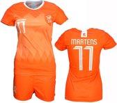 Nederlands Elftal Vrouwen Replica Lieke Martens Voetbal Thuis T-Shirt + Broek Set Oranje / Wit, Maat: 140