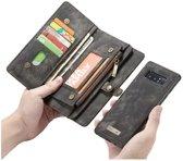 CASEME Samsung Galaxy Note 8 Vintage Portemonnee Hoesje - Zwart
