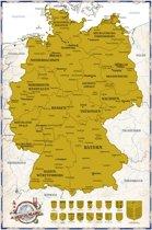 Poster-kras-scratch-Duitsland kaart-large- (61x91.5cm)