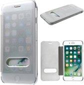 GSMWise - Apple iPhone 7 - Doorzichtige Window View Case - Zilver