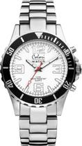 Colori 5-COL148 - Horloge Zilverkleurig en wit - Ø 40 mm