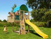 Jungle Gym – Villa Balcony - Speeltuin - Met Glijbaan - Geel