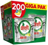 Dreft Platinum All in One - GIGA PAK 200 stuks - Vaatwastabletten