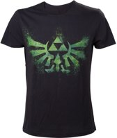 Nintendo The Legend of Zelda Green Triforce TShirt L