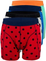 4 PACK OVERALL PRINT BOXER