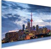 Wolken tijdens de schemering boven Toronto in Canada Plexiglas 180x120 cm - Foto print op Glas (Plexiglas wanddecoratie) XXL / Groot formaat!