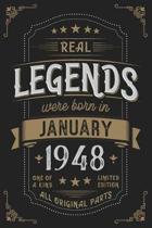 Real Legendes were born in Januar 1948