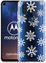 Motorola One Vision Hoesje Snow