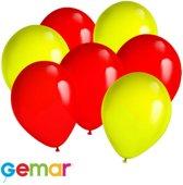 30x Ballonnen Geel en Rood (Ook geschikt voor Helium)