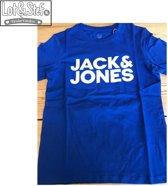 Jack & Jones Shirt - Maat 128  - Jongens - blauw/wit