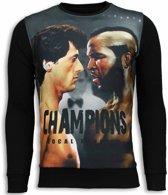Local Fanatic Rocky III - Sweater - Zwart - Maten: XXL