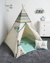 FUJL - Tipi Tent - Speeltent - Wigwam - kinder tipi -  Set Indian - Inclusief asseccoires